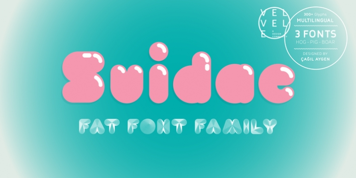 Suidae font preview