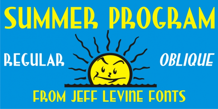 Summer Program JNL font preview