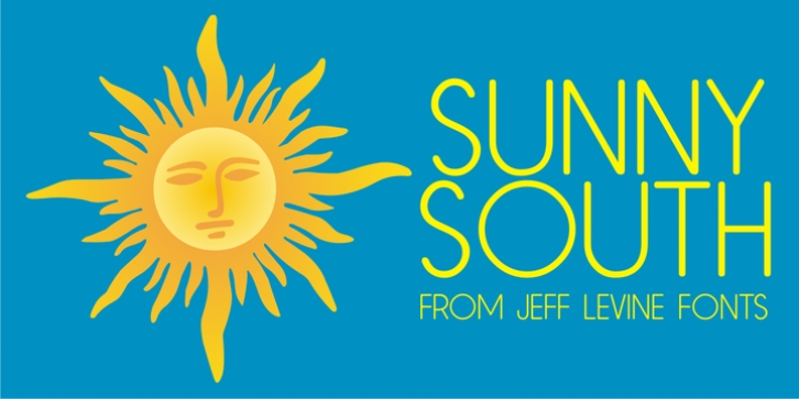 Sunny South JNL font preview