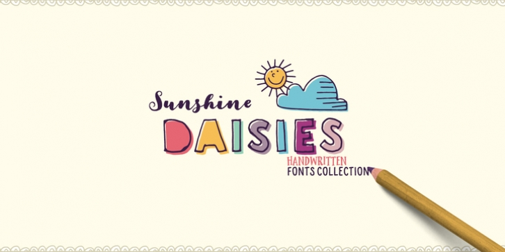 Sunshine Daisies font preview