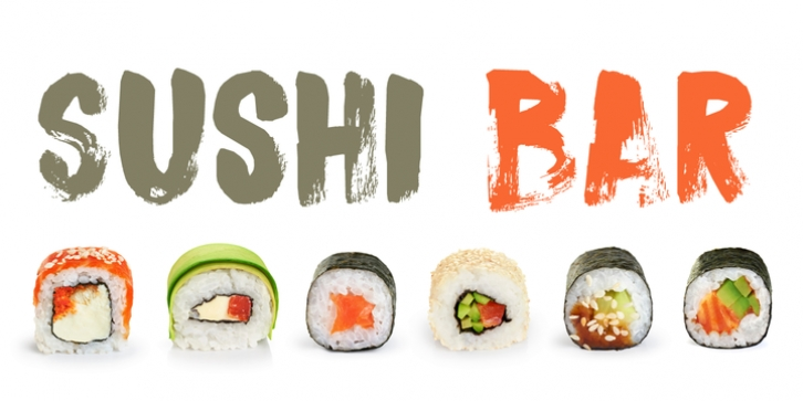 Sushi Bar font preview