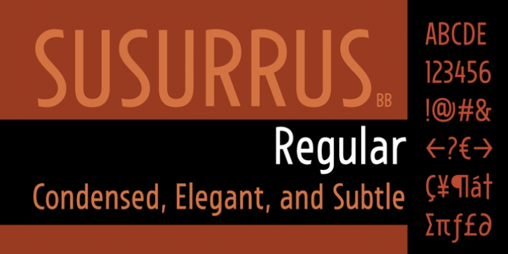 Susurrus BB font preview