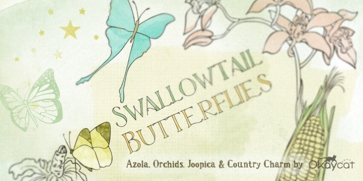 Swallowtail Butterflies font preview