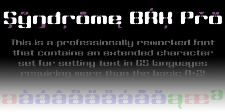 Syndrome BRK Pro font preview