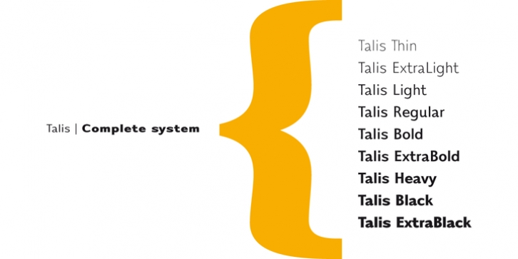 Talis font preview