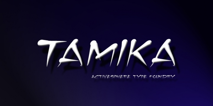 Tamika font preview