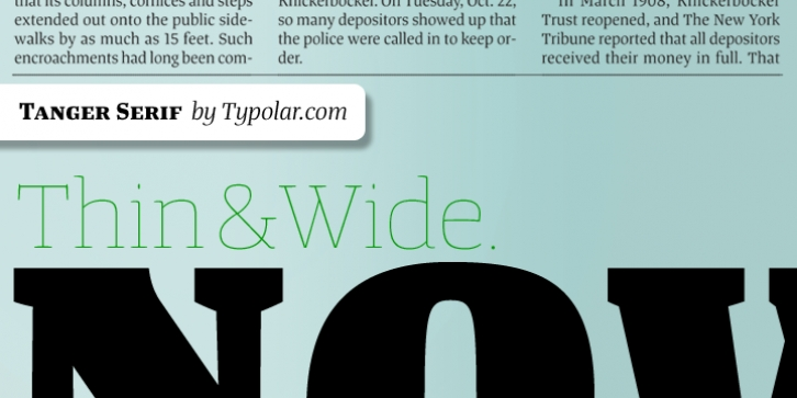 Tanger Serif font preview