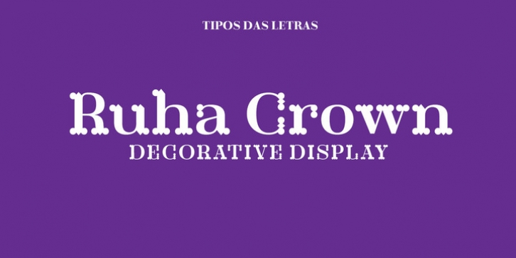 TDL Ruha Crown font preview