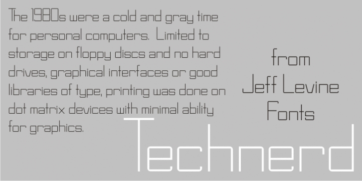 Technerd JNL font preview