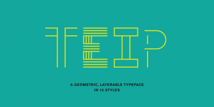 Teip font preview