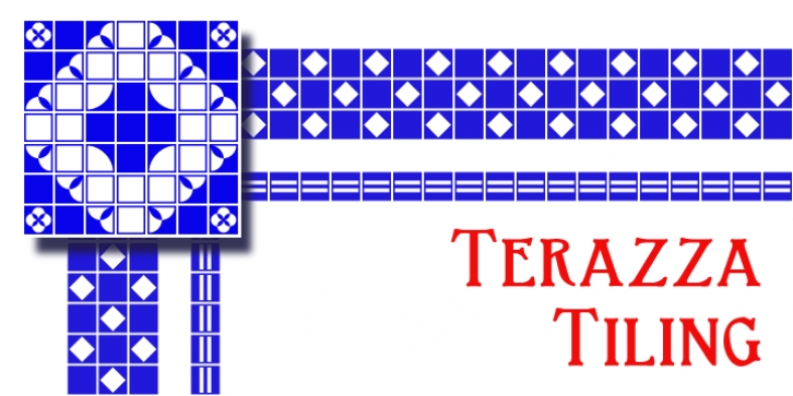 Terazza Tiling font preview