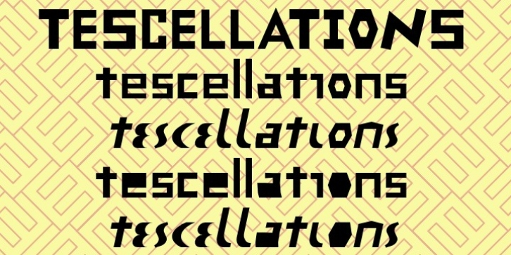 Tescellations font preview