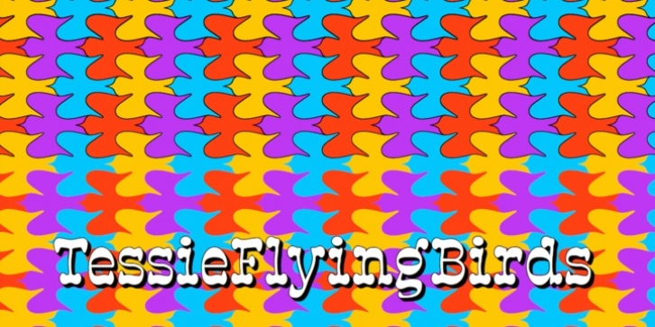 TessieFlyingBirds font preview