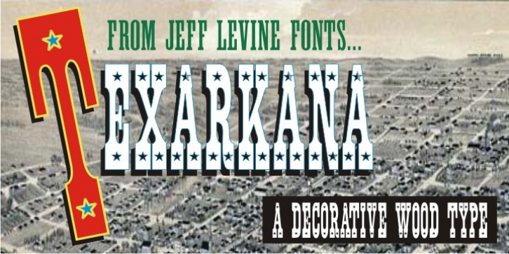 Texarkana JNL font preview