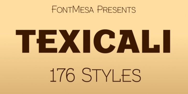 Texicali font preview