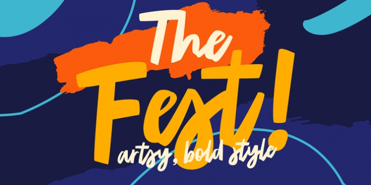 TF The Fest font preview