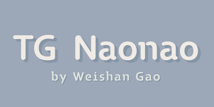 TG Naonao font preview