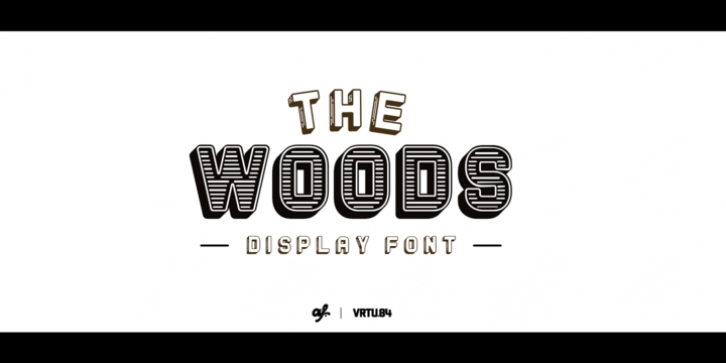 The Woods font preview