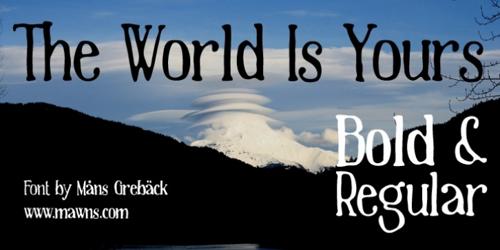 The World Is Yours font preview