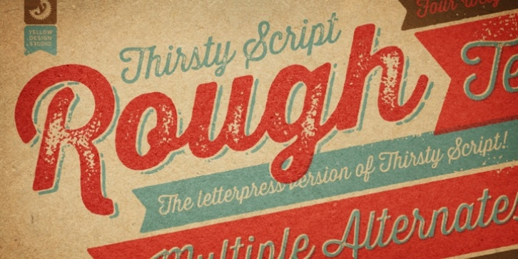 Thirsty Rough font preview