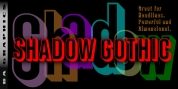 Shadow Gothic font download