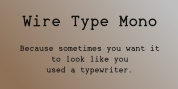 Wire Type Mono font download