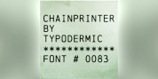 Chainprinter font download
