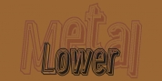 Lower Metal Shadow font download