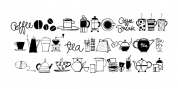 Coffee & Tea Doodles font download