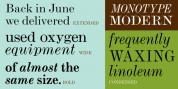 Monotype Modern font download