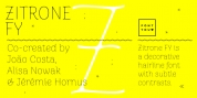 Zitrone FY font download