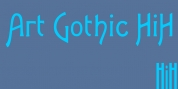 Art Gothic HiH font download