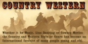 Country Western font download