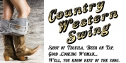 Country Western Swing font download