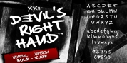 XXII DEVILS RIGHT HAND font download