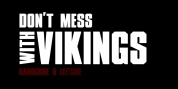 XXII DONT MESS WITH VIKINGS font download