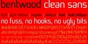 Bentwood font download