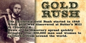 Gold Rush font download