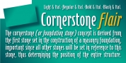 Cornerstone Flair font download