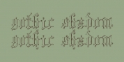 Gothic Shadow font download