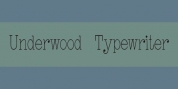 Underwood Typewriter font download