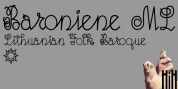 Baroniene ML font download