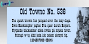 Old Towne No. 536 font download
