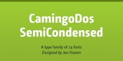 CamingoDos SemiCondensed font download