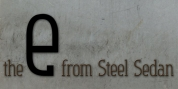 Steel Sedan font download