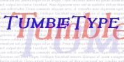 Tumbletype font download