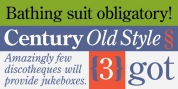 Century Old Style font download