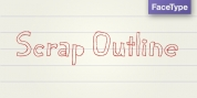 Scrap Outline font download