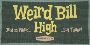 Weird Bill High font download