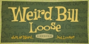 Weird Bill Loose font download